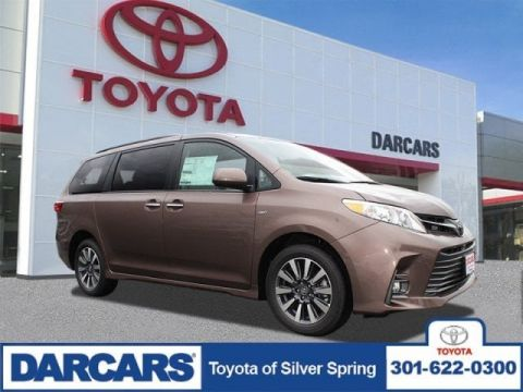 New 2020 Toyota Sienna XLE AWD Mini-van, Passenger 4 door